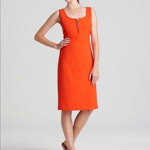 Tory Burch Orange Zachery Shift Dress